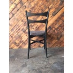 Image of Mid-Century Gio Ponti Style Ladder Back Chairs - Set of 4