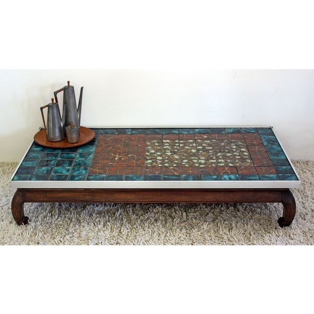 French Asian Inspired Mid Century Coffee Table Chairish