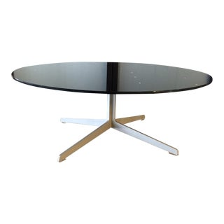 'Space' Black Glass & Chrome Coffee Table