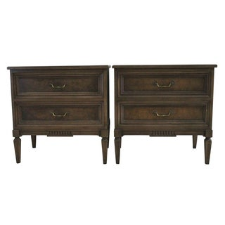 Italian Fruitwood Nightstands - A Pair