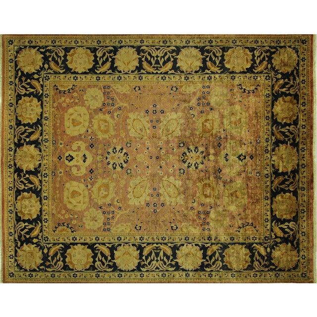 Oushak Blue Floral Chobi Wool Rug - 8' x 10' - Image 1 of 10