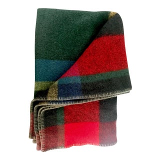 French Multicolor Wool Throw Blanket