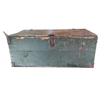 Rustic Turquoise Travel Trunk