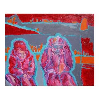 """Danuta Krol """"Friends"""" Acrylic Painting"""
