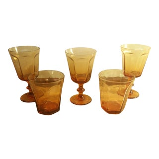 Tangerine Assorted Drinking Glasses - Set of 4
