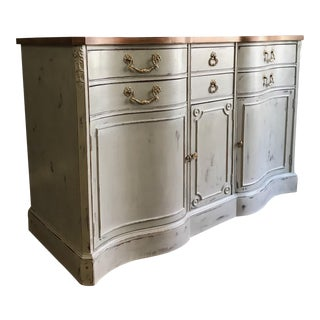 Distressed Chalk Painted Credenza