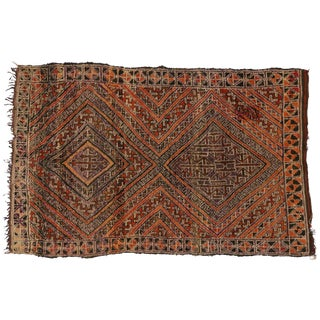 Berber Moroccan Rug with Tribal Design, 6'2x9'8