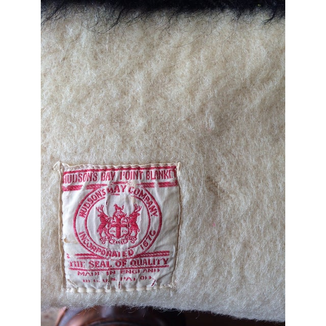 Authentic Hudson Bay 3.5-Pt Blanket Rare Red Label - Image 4 of 6