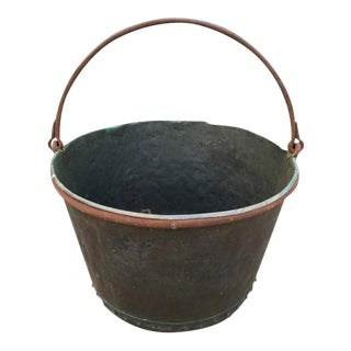 Large Early 19th Century Riveted Copper Apple Butter Pot