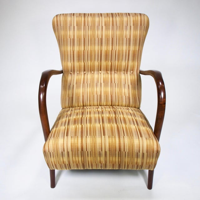 Italian Mid-Century High Back Chairs - A Pair - Image 6 of 10