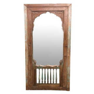 Antique Spindle Haveli Mirror