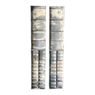 Vintage Large Industrial Metal Storage Shelf Unit