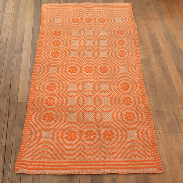 Orange Italian Artisan Rug - 2′3″ × 4′6″ - Image 2 of 4