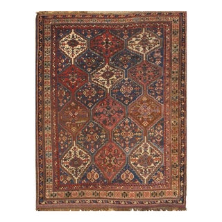"Pasargad NY Antique Persian Ghashghaei Hand-Knotted Rug - 4'10"" X 6'10"""