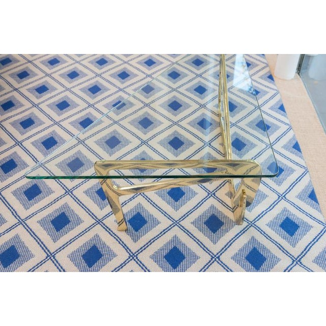 Italian Stylized Brass Cocktail Table - Image 3 of 11
