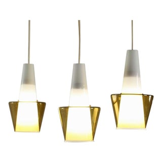 3 Out Of 9 Double Glass Scandinavian Pendants. Manner of Tapio Wirkkala