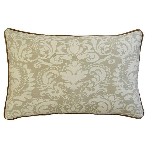 Image of Italian Fortuny Corone And Scalamandre Pillow