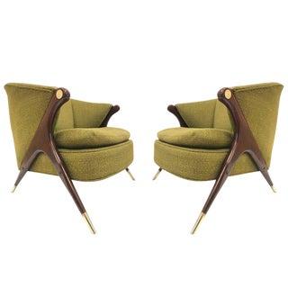 Karpen of California Mid-Century Modern Lounge Chairs