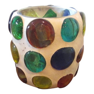 Mid-Century Art Glass Votive
