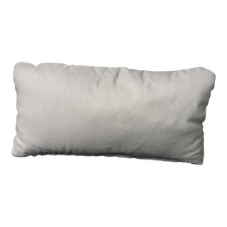 Modern Gray Linen Pillow
