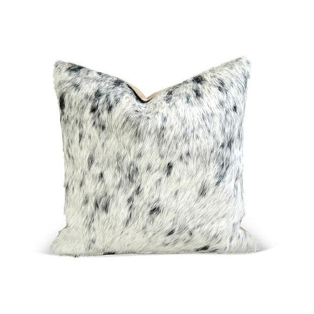 Black, White & Gray Cowhide Pillows - A Pair - Image 4 of 6
