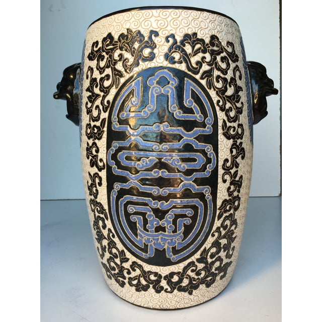 Chinese Porcelain Lion Head Motif Garden Stool - Image 2 of 11