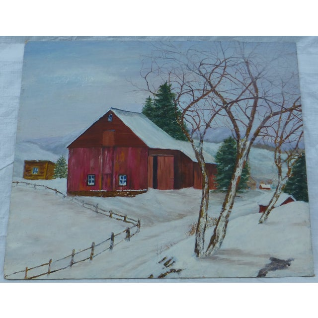 The Old Red Barn Painting by H.L. Musgrave - Image 2 of 6