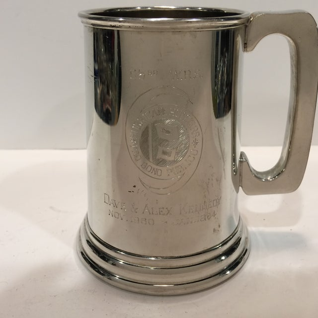 "Vintage Pewter ""53RD"" W.R.S. Hurricane Hunter Beer Stein - Image 6 of 11"