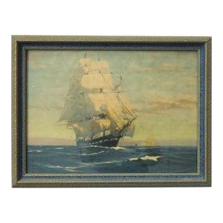 Art Deco Print of a Ship