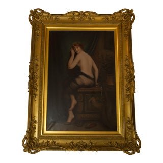 S. E. Boyes Signed 19th Century Nude Oil on Canvas
