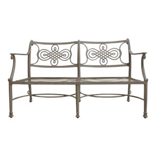 Woodard Landgrave Cast Classics Aluminum Patio Loveseat