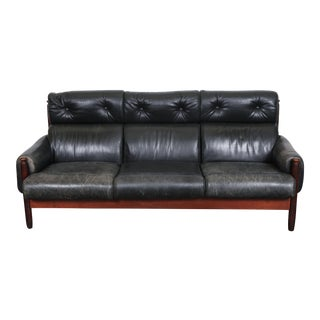 Vintage Swedish Leather Sofa