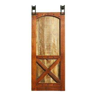 X Style Reclaimed Wood Barn Door