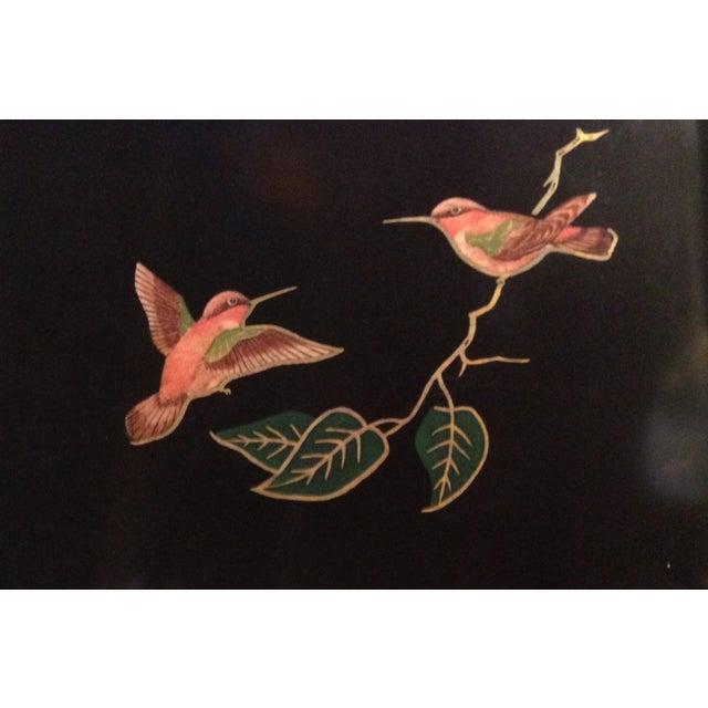 Large Couroc Hummingbird Tray - Image 2 of 5
