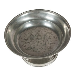 Svenskt Tenn Art Deco Pewter Tazza, Swedish c. 1930