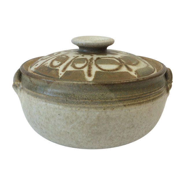 Mid-Century Studio Pottery Bowl and Lid - Image 1 of 11