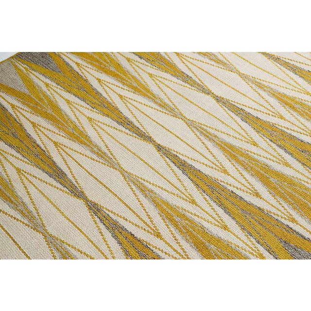 "Vintage Ingrid Dessau ""Sylarna"" Flat-Weave Swedish Carpet - Image 5 of 7"