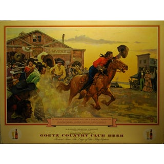 Charles Hargens 'The First Ride' Pony Express Poster