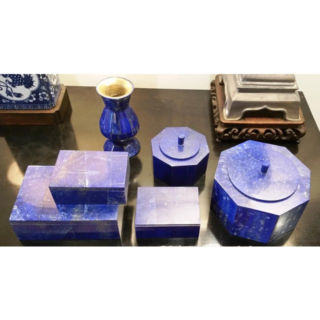 Octagonal Lapis Lazuli Box - Image 4 of 4