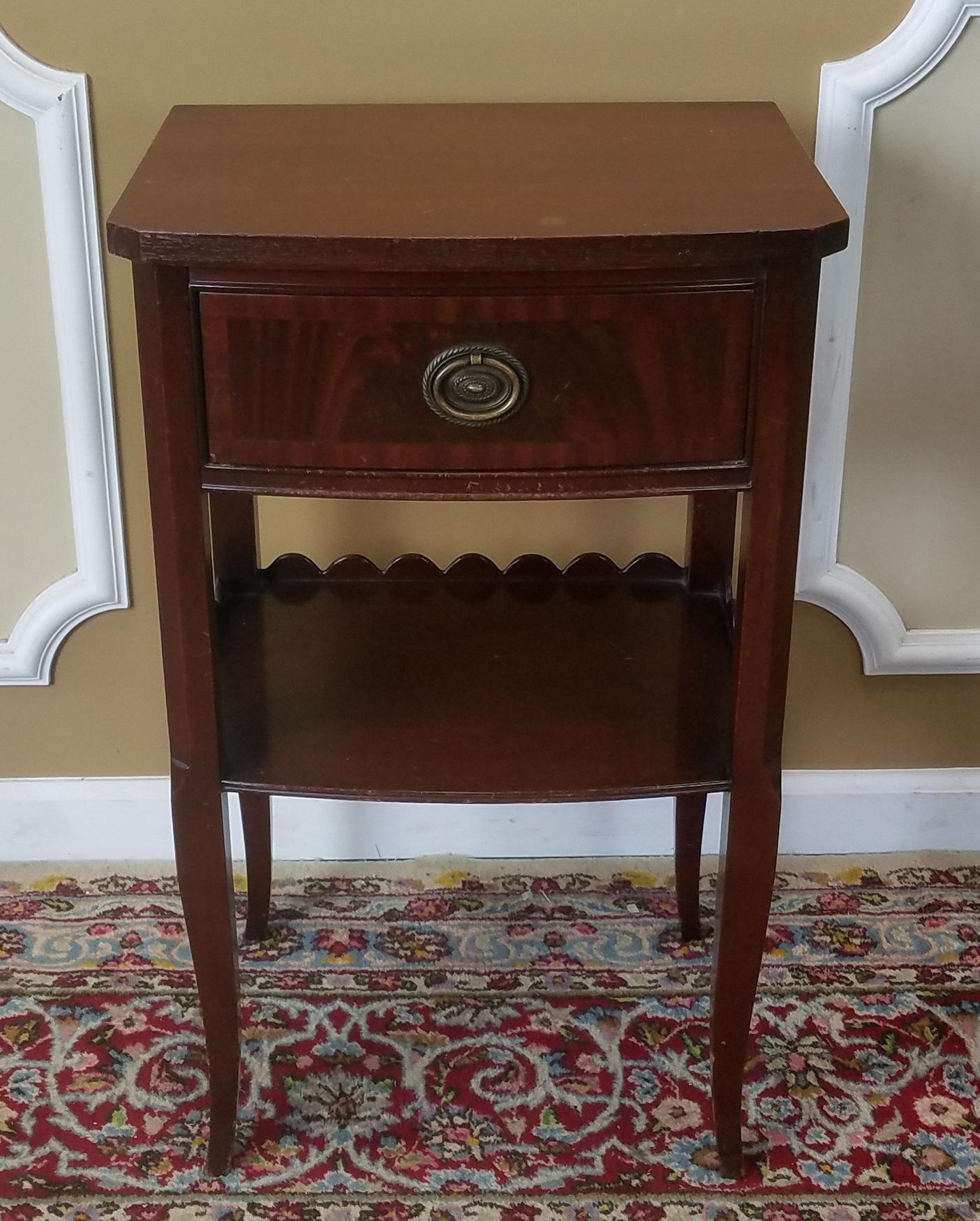Rway Northern Furniture Co Mahogany Sheraton Style Bedroom Nightstand    Image 3 Of 8