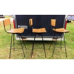 Image of Arthur Umanoff Mid-Century Slatted Bar Stools- Set of 3