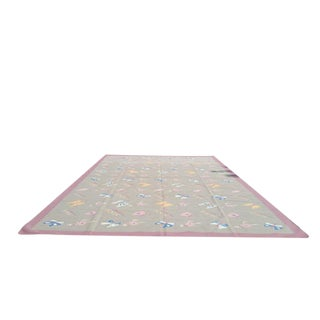 Modern Contemporary Dhurrie Hand Made Rug - 11′9″ × 17′7″