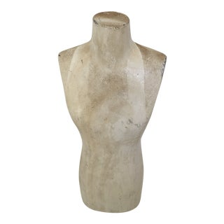 White Washed Wood Female Sculpture