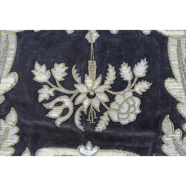 19th Century Italian Gold and Silver Metallic Appliqued Textile - Image 3 of 6
