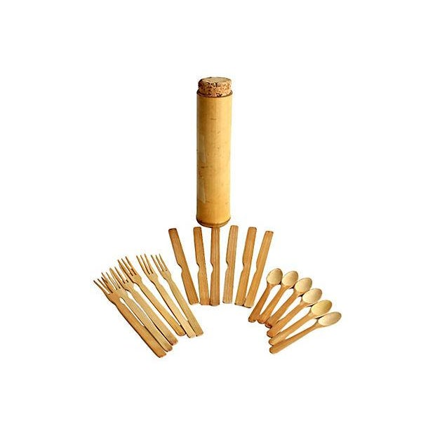 Image of Vintage Bamboo Cutlery