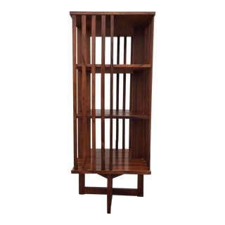 Modern Rosewood Revolving Bookcase