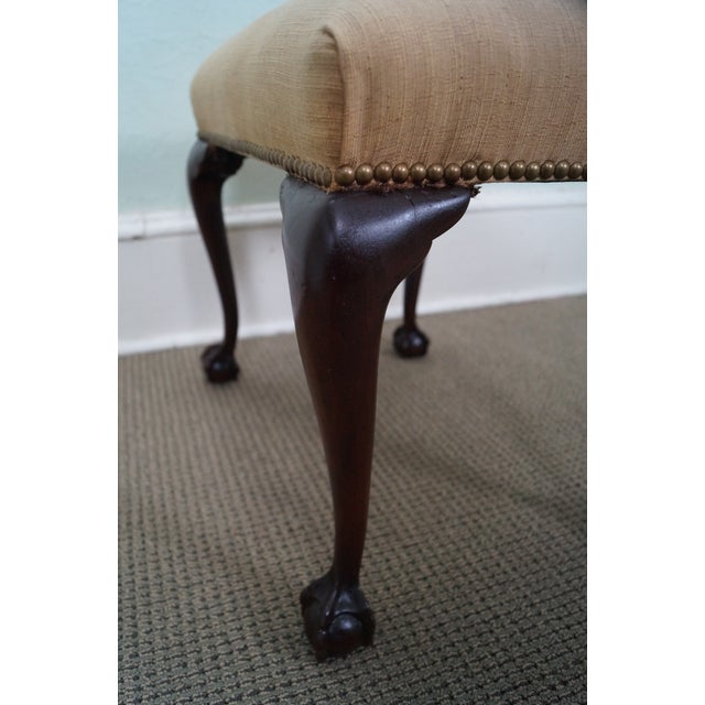 Image of Antique Solid Mahogany Ball & Claw Foot Ottoman
