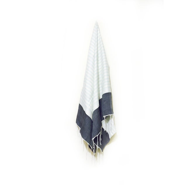 Hand Loomed Moroccan Towel - Image 1 of 3
