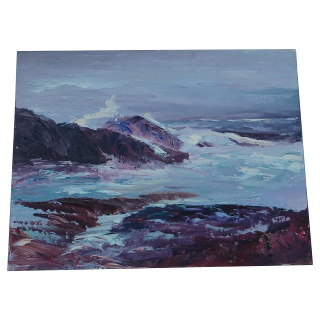 H.L. Musgrave Oil Painting, Turbulent Ocean Scene - Image 1 of 8