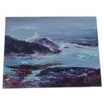 Image of H.L. Musgrave Oil Painting, Turbulent Ocean Scene